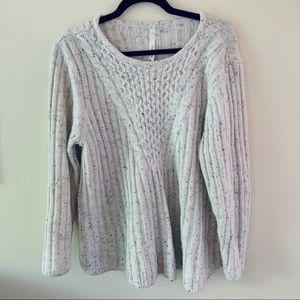 Funfetti Oatmeal colored Sweater
